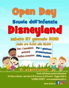 Open day Scuola Disneyland