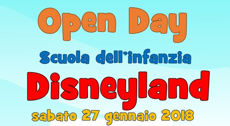 Open day Scuola Disneyland evidenza